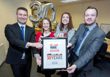 Driver Hire celebrates thirty years in franchising